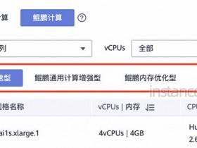 华为云服务器CPU架构鲲鹏计算可选实例规格清单