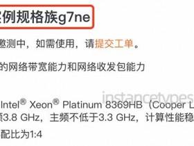 阿里云服务器ECS网络增强型g7ne实例CPU内存网络带宽收发包性能参数详解